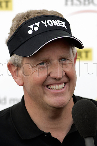 15 September 2006: Portrait of scottish golfer Colin Montgomerie (SCOT) after his 2nd round match on the 2nd day of the HSBC World Match Play Championship played on the West Course, Wentworth. Photo: Neil Tingle/Action Plus..060915 golf golfer golfers