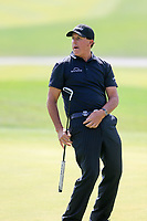 Phil Mickelson (USA) on the 10th green during round 1 at the WGC HSBC Champions, Sheshan Golf Club, Shanghai, China. 31/10/2019.<br /> Picture Fran Caffrey / Golffile.ie<br /> <br /> All photo usage must carry mandatory copyright credit (© Golffile | Fran Caffrey)