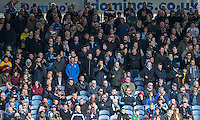 The Wycombe supporters during the Sky Bet League 2 match between Portsmouth and Wycombe Wanderers at Fratton Park, Portsmouth, England on 23 April 2016. Photo by Andy Rowland.