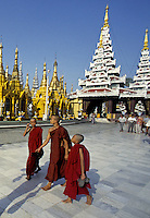 MONKS AT SHREDAGON PAGODA