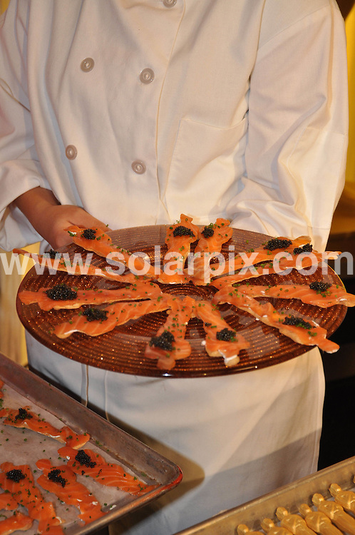 **ALL ROUND PICTURES FROM SOLARPIX.COM**.**SYNDICATION RIGHTS FOR UK, AUSTRALIA, DENMARK, PORTUGAL, S. AFRICA, SPAIN & DUBAI (U.A.E) ONLY**.Preparations underway for the 82nd Annual Academy Awards at the Kodak theatre in Hollywood Boulevard CA USA..This pic: Food..JOB REF: 10849    PHZ/McCoy    DATE: 06.03.2010.**MUST CREDIT SOLARPIX.COM OR DOUBLE FEE WILL BE CHARGED**.**MUST NOTIFY SOLARPIX OF ONLINE USAGE**.**CALL US ON: +34 952 811 768 or LOW RATE FROM UK 0844 617 7637**