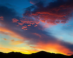 Sunset over White Mountains, Inyo County, CA.