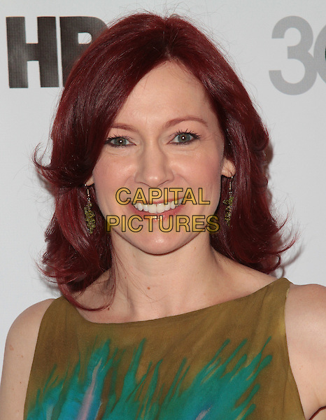 Carrie Preston.The 2012 Outfest Opening Night Gala of Vito held at Orpheum Theatre, os Angeles, California, USA..12th July 2012.headshot portrait green blue  .CAP/ADM/ORC.©ORC/AdMedia/Capital Pictures.