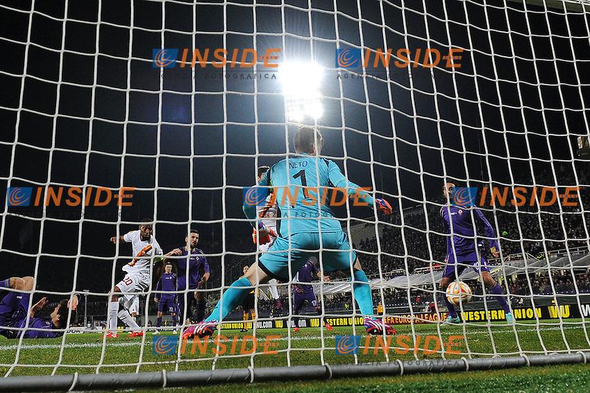 Gol Seydou Keita Roma 1-1 Goal celebration <br /> Firenze 12-03-2015 Stadio Artemio Franchi Football Calcio Europa League Fiorentina - AS Roma . Foto Andrea Staccioli / Insidefoto