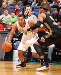 SIOUX FALLS, SD - DECEMBER 7:  Andrew Goudelock #15 from the Sioux Falls Skyforce drives against D.J. Kennedy #4 from the Erie Bayhawks in the first quarter of their game Friday night at the Sioux Falls Arena. (Photo by Dave Eggen/Inertia)
