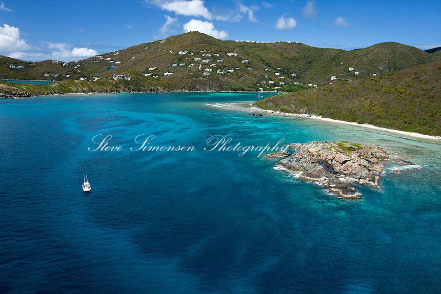 Cocoloba Cay looking towards Fish Bay.St. John.U.S. Virgin Islands