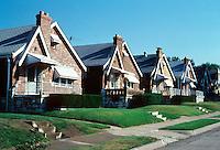 St. Louis: Row of houses near Hampton. Small, neat single family neighborhood. Photo '80.