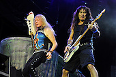 IRON MAIDEN - Janick Gers and Steve Harris - performing live on Day Three on the Lemmy Stage at the Download Festival at Donington Park UK - 12 Jun 2016.  Photo credit: Zaine Lewis/IconicPix