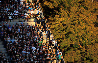 Sept. 19, 2009; Provo, UT, USA; General view of the grandstands at LaVell Edwards Stadium during the game between the BYU Cougars against the Florida State Seminoles.. Florida State defeated BYU 54-28. Mandatory Credit: Mark J. Rebilas-