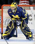 Bryan Hogan (Michigan - 35) - The Boston University Terriers defeated the University of Michigan Wolverines 3-2 on Saturday, October 24, 2009, at Agganis Arena in Boston, Massachusetts.