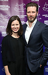 """Maggie Lacey and Bill Heck attends The American Associates of the National Theatre's Gala celebrating Tony Kushner's """"Angels in America"""" on March 11, 2018 at the Ziegfeld Ballroom,  in New York City."""