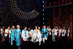Matthew Hydzik, Emily Skinner, Jarrod Spector, Micaela Diamond, Stephanie J. Block, Teal Wicks, Michael Berresse and Michael Campayno with the cast during the Broadway Opening Night Curtain Call of 'The Cher Show'  at Neil Simon Theatre on December 3, 2018 in New York City.