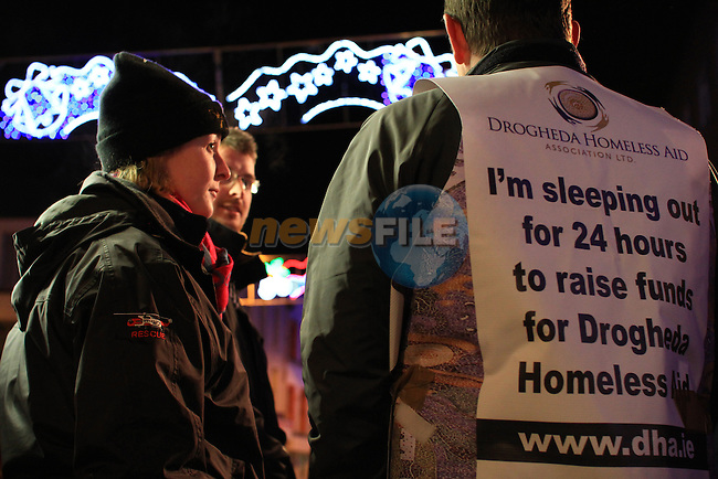 Drogheda Coast Guard Unit assist with Drogheda Homeless Aid Sleep Out 2011..Picture: Shane Maguire / www.newsfile.ie.