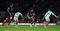 England's Anthony Watson in action during todays game<br /> <br /> Photographer Rachel Holborn/CameraSport<br /> <br /> International Rugby Union Friendly - Old Mutual Wealth Series Autumn Internationals 2017 - England v Argentina - Saturday 11th November 2017 - Twickenham Stadium - London<br /> <br /> World Copyright &copy; 2017 CameraSport. All rights reserved. 43 Linden Ave. Countesthorpe. Leicester. England. LE8 5PG - Tel: +44 (0) 116 277 4147 - admin@camerasport.com - www.camerasport.com