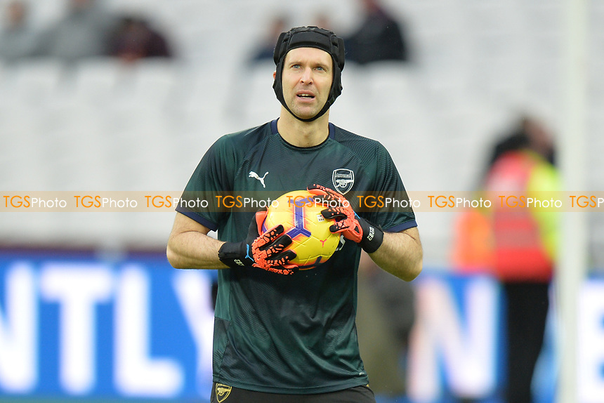 Petr Cech of Arsenal during West Ham United vs Arsenal, Premier League Football at The London Stadium on 12th January 2019