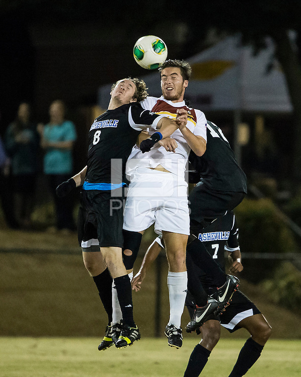 The Winthrop University Eagles beat the UNC Asheville Bulldogs 4-0 to clinch a spot in the Big South Championship tournament.  Mick Giordano (8), Pol Sole (10)
