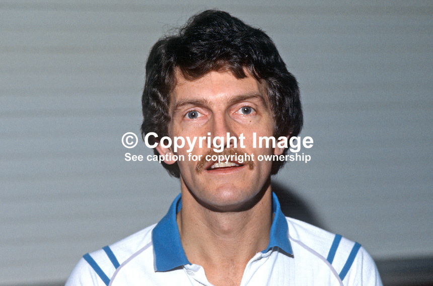 David Gotto, Irish International, squash player, Belfast, N Ireland, sports shop owner, 19840158DG1..Copyright Image from Victor Patterson, 54 Dorchester Park, Belfast, UK, BT9 6RJ..Tel: +44 28 9066 1296.Mob: +44 7802 353836.Voicemail +44 20 8816 7153.Skype: victorpattersonbelfast.Email: victorpatterson@me.com.Email: victorpatterson@ireland.com (back-up)..IMPORTANT: If you wish to use this image or any other of my images please go to www.victorpatterson.com and click on the Terms & Conditions. Then contact me by email or phone with the reference number(s) of the image(s) concerned.