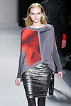 Anabela Belikova walks the runway in a Nicole Miller Fall 2011 outfit, during Mercedes-Benz Fashion Week.