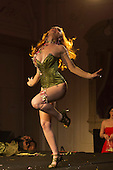 "Friday, 10 May 2013, London, UK. Picture: Strawberry Siren from Melbourne, Australia, performing ""Berry Classic"". Opening Gala of Chaz Royal's London Burlesque Festival 2013, running from 10 to 19 May 2013, Bush Hall, Shepherd's Bush, London."