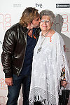 "Spanish actor Javier Bardem with his mother Pilar Bardem attends to the premiere of ""Ma Ma"" at Capitol Cinemas in Madrid, Spain. September 09, 2015. <br /> (ALTERPHOTOS/BorjaB.Hojas)"