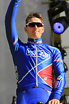 Arnaud Demare (FRA) FDJ team on stage at sign on before the 101st edition of the Tour of Flanders 2017 running 261km from Antwerp to Oudenaarde, Flanders, Belgium. 26th March 2017.<br /> Picture: Eoin Clarke | Cyclefile<br /> <br /> <br /> All photos usage must carry mandatory copyright credit (&copy; Cyclefile | Eoin Clarke)