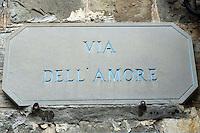 La Via dell'Amore tra Riomaggiore e Manarola, alle Cinque Terre.<br /> The Via dell'Amore (Love Street) between Riomaggiore and Manarola at the Cinque Terre.<br /> UPDATE IMAGES PRESS/Riccardo De Luca