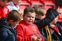 Young Fleetwood Town fans await kick off<br /> <br /> Photographer Alex Dodd/CameraSport<br /> <br /> The EFL Sky Bet League One - Fleetwood Town v Accrington Stanley - Saturday 15th September 2018  - Highbury Stadium - Fleetwood<br /> <br /> World Copyright &copy; 2018 CameraSport. All rights reserved. 43 Linden Ave. Countesthorpe. Leicester. England. LE8 5PG - Tel: +44 (0) 116 277 4147 - admin@camerasport.com - www.camerasport.com