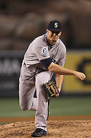 Blake Beavan #49 of the Seattle Mariners pitches against the Los Angeles Angels at Angel Stadium on June 5, 2012 in Anaheim,California. Los Angeles defeated Seattle 6-1.(Larry Goren/Four Seam Images)