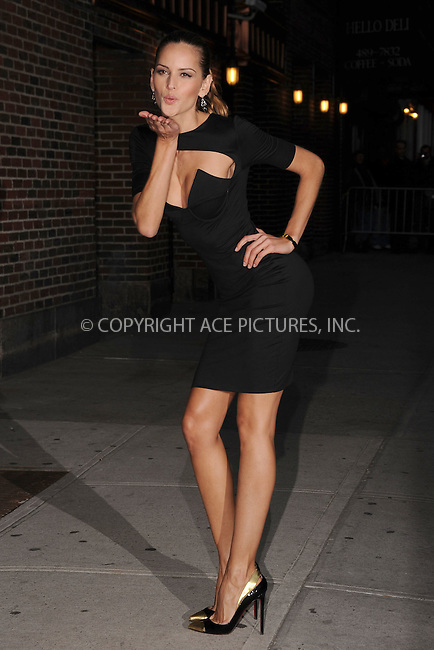 WWW.ACEPIXS.COM . . . . . February 13, 2012...New York City...Izabel Goulart tapes an appearance on  the Late Show with David Letterman on February 13, 2012 in New York City....Please byline: KRISTIN CALLAHAN - ACEPIXS.COM.. . . . . . ..Ace Pictures, Inc: ..tel: (212) 243 8787 or (646) 769 0430..e-mail: info@acepixs.com..web: http://www.acepixs.com .