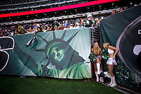 New York Jets cheerleaders, get ready to perform during the NFL game against Buffalo Bills at MetLife Stadium in New Jersey. 09.05.2014. VIEWpress