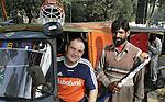 SPECIAL de TELEGRAAF  iov Luuk Blijboom (sportred.) doelamn van het Nederlands elftal, GUUS VOGELS.Champions Trophy Hockey mannen.