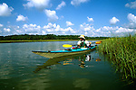 Florida: St. Augustine, Kayaking the Intercoastal, model released.  Photo: flaugu103.Photo copyright Lee Foster, 510/549-2202, lee@fostertravel.com, www.fostertravel.com