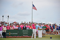Ian Poulter (GBR) watches his tee shot on 1 during round 4 of The Players Championship, TPC Sawgrass, at Ponte Vedra, Florida, USA. 5/13/2018.<br /> Picture: Golffile | Ken Murray<br /> <br /> <br /> All photo usage must carry mandatory copyright credit (&copy; Golffile | Ken Murray)