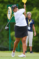 Lizette Salas (USA) watches her tee shot on 10 during round 4 of the KPMG Women's PGA Championship, Hazeltine National, Chaska, Minnesota, USA. 6/23/2019.<br /> Picture: Golffile | Ken Murray<br /> <br /> <br /> All photo usage must carry mandatory copyright credit (© Golffile | Ken Murray)