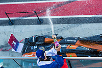 12th January 2020; The Bend Motosport Park, Tailem Bend, South Australia, Australia; Asian Le Mans, 4 Hours of the Bend, Race Day; The number 26 G Drive Racing By Algarve LMP2 driven by Roman Rusinov celebrates after winning the race - Editorial Use
