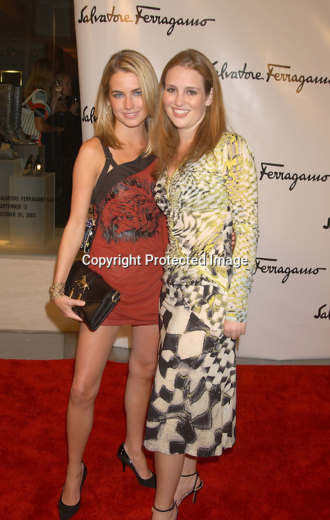 Amanda and Jillian Hearst                               ..at the Salvatore Ferragamo NYC Flagship Store opening on ..September 12, 2003 . The Event benefitted Free Arts NYC.  Photo by Robin Platzer, Twin Images.