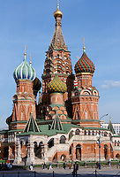 St Basil's Cathedral, 16th Century, at The Kremlin in Red Square, Moscow, Russia