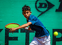 Hilversum, Netherlands, Juli 29, 2019, Tulip Tennis center, National Junior Tennis Championships 12 and 14 years, NJK, Noah Pawirodirjo (NED)<br /> Photo: Tennisimages/Henk Koster