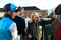 Connections of  Silver Swift  in the winners enclosure after winning The Signs In Motion Ltd Handicap Stakes       during Twilight Racing at Salisbury Racecourse on 14th September 2018