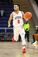 Washington, DC - December 22, 2018: Richmond Spiders guard Jacob Gilyard (0) dribbles the ball during the DC Hoops Fest between Hampton and Howard at  Entertainment and Sports Arena in Washington, DC.   (Photo by Elliott Brown/Media Images International)