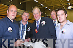 Dan McCarthy checks his figures with Donald Lynch Steve McCarthy and Shane McCarthy