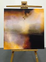 "Soon, 42 3/4"" x 42 3/4"" x 2 1/2"", Digital Print on Canvas, ROLLED RENTAL Black on Sides, Matte Finish"