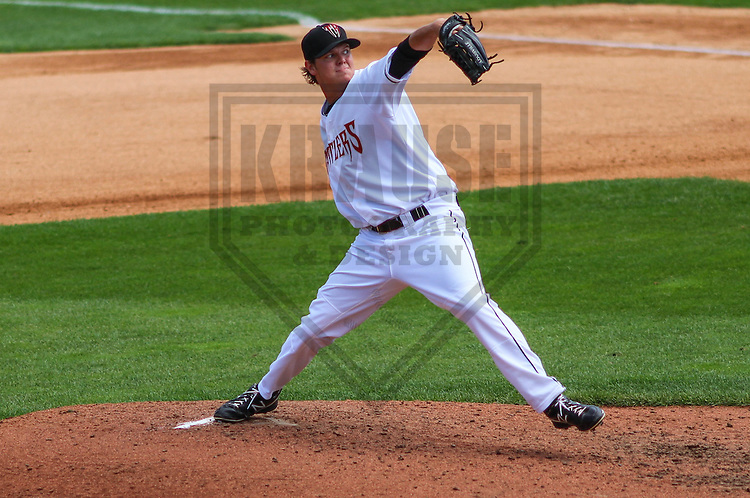 APPLETON - August 2014: Tristan Archer (33) of the Wisconsin Timber Rattlers during a game against the Beloit Snappers on August 26th, 2014 at Fox Cities Stadium in Appleton, Wisconsin.  (Photo Credit: Brad Krause)