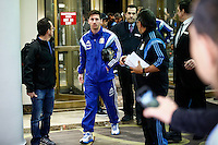 Argentina soccer player Lionel Messi arrives to the hotel to attend the friendly match between Argentina and Ecuador in New Jersey. 03.30.2015. Eduardo MunozAlvarez / VIEWpress.