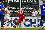 01.08.2020, C-Team Arena, Ravensburg, GER, WFV-Pokal, FV Ravensburg vs SSV Ulm 1846 Fussball, <br /> DFL REGULATIONS PROHIBIT ANY USE OF PHOTOGRAPHS AS IMAGE SEQUENCES AND/OR QUASI-VIDEO, <br /> im Bild Tor zum 0:1, Johannes Reichert (Ulm, #5) trifft im Nachschuss gegen Kevin Kraus (Ravensburg, #1)<br /> <br /> Foto © nordphoto / Hafner