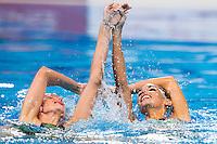 CARBONELL Ona e KLAMBURG Paula ESP<br /> Synchro - Duet free final<br /> Day 07 30/07/2015<br /> XVI FINA World Championships Aquatics Swimming<br /> Kazan Tatarstan RUS July 24 - Aug. 9 2015 <br /> Photo Giorgio Perottino/Deepbluemedia/Insidefoto