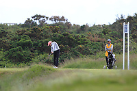 Daniella Barrett (FIN) on the 7th tee during Round 3 Matchplay of the Women's Amateur Championship at Royal County Down Golf Club in Newcastle Co. Down on Friday 14th June 2019.<br /> Picture:  Thos Caffrey / www.golffile.ie