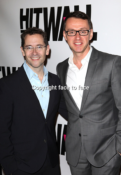 """David Bloch & Andrew Lippa attending the New York Premiere of the Opening Night Performance of """"Hit The Wall"""" at the Barrow Street Theatre in New York City on 3/10/2013...Credit: McBride/face to face"""