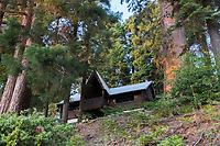 Chalet Simone, a cabin in Sequoia Crest, seen from Ponderosa Drive.