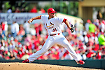 10 March 2010: St. Louis Cardinals' pitcher Mitchell Boggs on the mound during a Spring Training game against the Washington Nationals at Roger Dean Stadium in Jupiter, Florida. The Cardinals defeated the Nationals 6-4 in Grapefruit League action. Mandatory Credit: Ed Wolfstein Photo